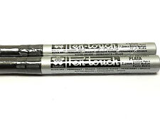 Sakura Pen Touch Paint Marker, Metallic Silver 2.0mm Med 2 each 41502 New!