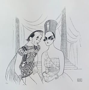 AL HIRSCHFELD ANTHONY AND CLEOPATRA Facsimile Signed Limited Edition Lithograph