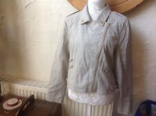 Limited Edition Atmosphere Size 18 (46) Mink Beige Biker 🚵 Jacket BNWT-RRP £27