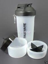 TrueWare Awesome 3 in 1 Shaker Plastic Protein Bottle,Milk Shake,700ml,Assorted