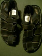 MEN'S FADED GLORY LEATHER SANDALS SIZE  7 1/2 PRE-OWNED