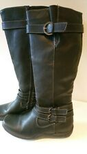 Caravelle Ladies Boots Black Size 6 39 Knee High Zip Up