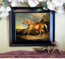 New Item Ward ARABIAN Palomino Horse Print Antique Style Framed 11X13 .... jocoo