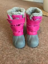 Campri Pink Girls Snow Boots Waterproof Snowproof Size 10 (28)