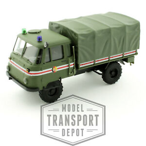 Busch 50228 Robur LO 2002 A Military Fire Command Truck Canvas Back Scale Model