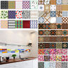 Retro Home Decor Mosaic Tile Bathroom Kitchen Adhesive 3D Wall Sticker DIY Decor
