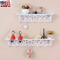 Mordern Wood Shelf Display Floating Nesting Wall Decorative Mount Ledge Storage
