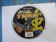 LOT DE 4 BOBINES GRAUVELL Jinza TREK MARRON  100M X4  0.20 mm 13,9 kg 30,5 lb