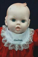 """Vintage Gerber Baby Doll 1990 Plastic Blue Eyes Opens & Closes 20"""" Onesie"""