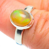 Ethiopian Opal 925 Sterling Silver Ring Size 6.25 Ana Co Jewelry R52291F