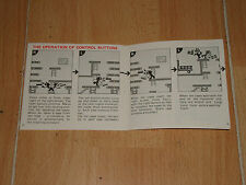 MARIO BROS. MULTI SCREEN BY NINTENDO GAME & WATCH MW-56 INSTRUCTION MANUAL ONLY
