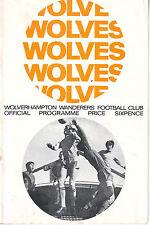 WOLVERHAMPTON WANDERERS V SOUTHAMPTON 2 DEC 1967 Inc FLR  VGC