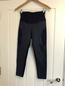 YUMMIE BY HEATHER THOMSON BLUE HIGH WAIST ANKLE LEGGING S BNWOT!!