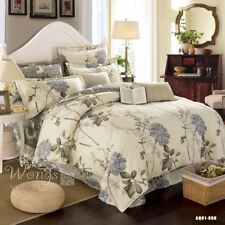 Cotton Ink style Quilt/Doona/Duvet Covers Set Floral Queen Size Bed Pillow Cases