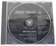 METALLICA Fan Can 4 CD RARE OOP Live Dallas TX 1989 NO FRONT BOOKLET 80s Thrash