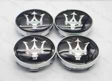 4Pcs 60mm Car Wheel Center Hub Caps Badge Rim Dust Cover Logo for Maserati