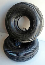 (2) Lot 4.10/3.50-4 Hand Truck Air 4 Ply Tire with Inner Tube for 10""