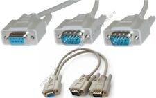 Lot10 RS232 Serial DB9 pin 1*Female~2*Males Y/T Splitter Cable/Cord/Wire Adapter