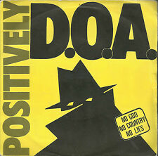 D.O.A. Positively D.O.A. EP rare Canadian PUNK Alternative Tentacles VIRUS 7