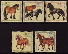 WEST GERMANY MNH STAMP SET DEUTSCHE BUNDESPOST HORSES 1997 SG 2774 - 2778