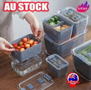 NEW  Fresh Produce Vegetable Fruit Storage Containers AU STOCK AN