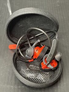 Red Bose SoundSport Wireless Headphones With Case Work Great
