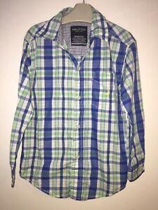 Boys Age 5-6 Years - Nautica Long Sleeved Checked Shirt