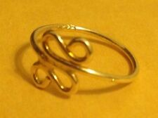 14K Gold on silver Snake Tail sz 3.25 Toe Ring Pinkie Knuckle Midi Thumb Vintage