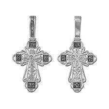 STERLING SILBER KREUZ 925 Orthodoxe Anhänger russisch 4622 крест серебрянный