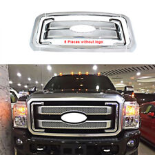 Grille For 2011-2016 Ford F250 F350 Super Duty Chrome Grill Full Overlay Covers