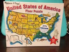 Melissa & Doug United States Of America 48 jumbo piece Floor Puzzle New