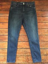Topshop Moto Skinny Jeans Jamie  Blue Size 10 W28 To Fit L32.      Rb54