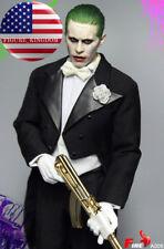 1/6 Joker Jared Leto Head Sculpt Tuxedo Suit Costume Set Gold AK47 Suicide Squad