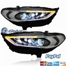 GA HID Headlights Fit Ford Fusion 2017-up Front Bumper LED Bi-xenon Head Lamps