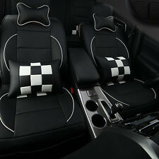 10x Car Seat Cover Cushion PU Leather For VW GOLF POLO PASSAT JETTA FABIA EE