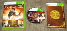 Fable III (Microsoft Xbox 360, 2010) Complete with Case, Manual & Game CD