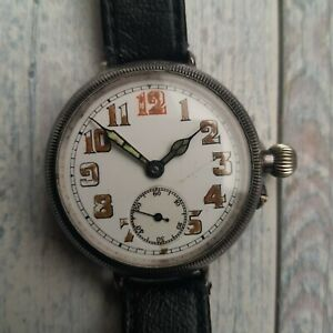 Silver Baume & Co Officer's Trench Watch