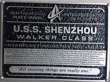 Star Trek discovery U.S.S. shenzhou walker class plaquita dedication plaque repl