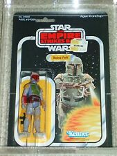 Vintage Star Wars 1980 KENNER AFA 75 BOBA FETT ESB 41 BACK-D CARD MOC CLR BUBBLE