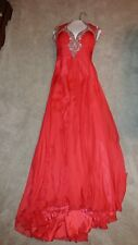 Mac duggal Red Crystal Evening Gown Dress Size 2