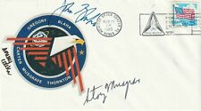 Sts-33 Signed Astronaut Cover X3 Nasa Space Shuttle Blaha Carter Musgrave