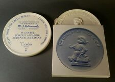 2-MJ Hummel medallion coins. Goebel. Thank you for coming.  1975 Germany