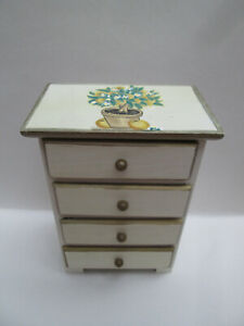 Lovely Miniature Wooden Chest of Drawers Jewellery Trinkets Etc