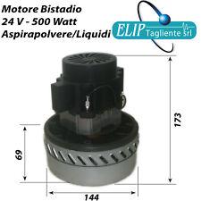 Motore aspiratore industriale 24V  500 W bistadio aspirapolvere aspiraliquidi