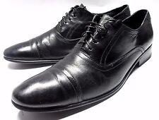 MICHAEL SHANNON CAP TOE OXFORDS SIZE 13 M BLACK LEATHER DRESS GENTLEMAN SHOES