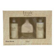 FCUK Friction For Her Gift Set EDT 100ml/ Body Lotion 250ml/Fragrance Mist 250ml