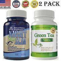 Night Slim Body Burner Caps Green Tea Extract Weight Loss Fat Burn Pills 2 Pack