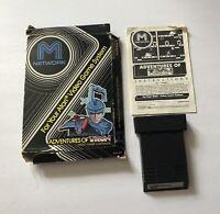 Adventures Of Tron Atari 2600 COMPLETE CIB M Network 1982 TESTED