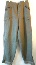Vintage 100% Heavy Wool Mens Button Fly Pants hunting 31W/43L/31 inseam
