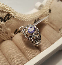 Stunning Tanzanite Solitaire Ring in Hand Crafted Sterling silver 'O'